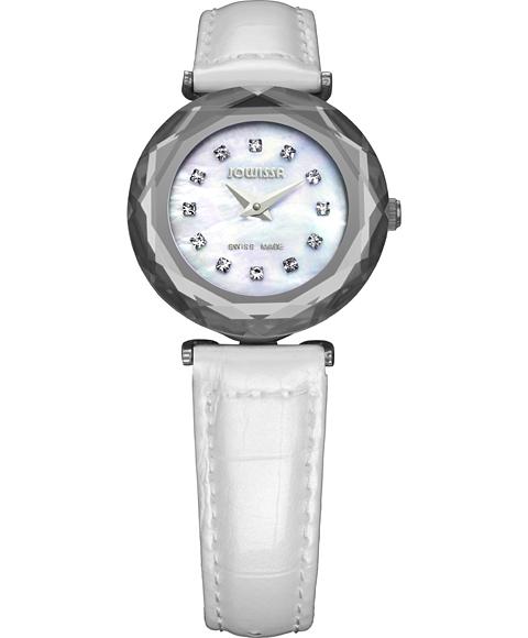 アウトレット 半額 ジョウィサ J1シリーズ サファイア 1.069.S 腕時計 レディース JOWISSA Safira 99 クロノグラフ レザーストラップ ホワイト系