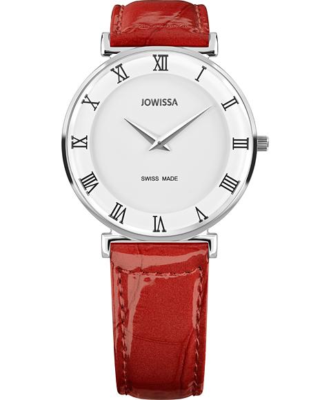 ジョウィサ J2シリーズ ローマ 2.201.L 腕時計 レディース JOWISSA Roma Colori レザーストラップ レッド系