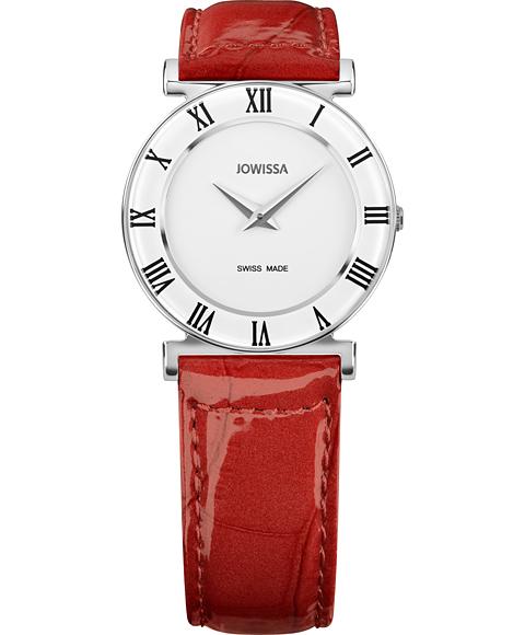 ジョウィサ J2シリーズ ローマ 2.201.M 腕時計 レディース JOWISSA Roma Colori レザーストラップ レッド系