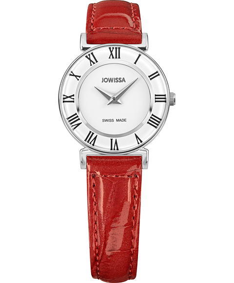 ジョウィサ J2シリーズ ローマ 2.201.S 腕時計 レディース JOWISSA Roma Colori レザーストラップ レッド系