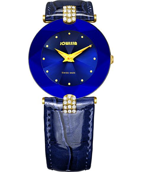 ジョウィサ J5シリーズ 5.011.M 腕時計 レディース JOWISSA ゴールド レザーストラップ ブルー系