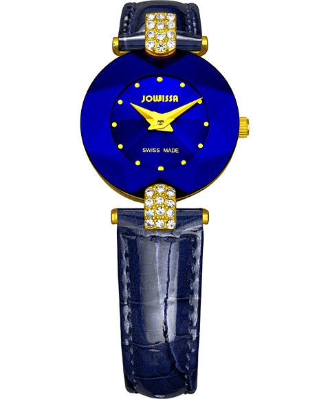 ジョウィサ J5シリーズ 5.011.S 腕時計 レディース JOWISSA ゴールド レザーストラップ ブルー系