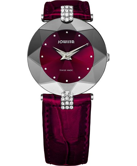 ジョウィサ J5シリーズ 5.300.M 腕時計 レディース JOWISSA レザーストラップ ワインレッド系