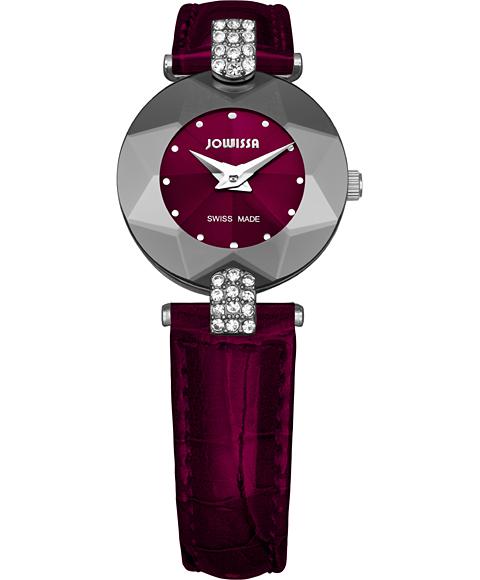 ジョウィサ J5シリーズ 5.300.S 腕時計 レディース JOWISSA レザーストラップ ワインレッド系