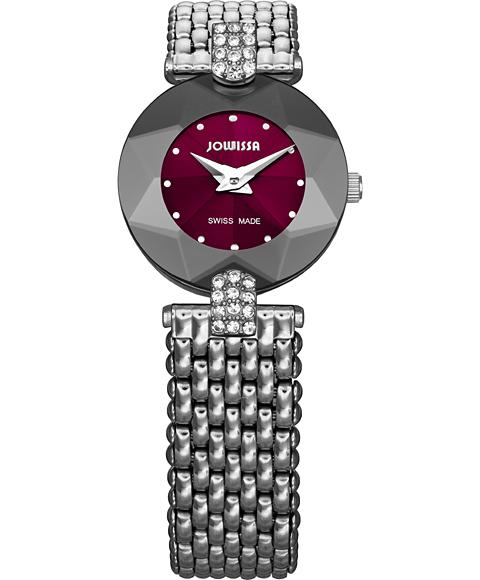 ジョウィサ J5シリーズ 5.316.S 腕時計 レディース JOWISSA メタルブレス ワインレッド系