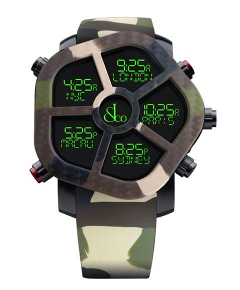 ジェイコブ ゴースト JC-GST-CAMOGR カモフラージュカラーグリーン 腕時計 メンズ JACOB&CO GHOST デジタル 5time zone