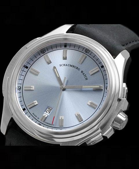 シャウボーグ アーバニック URBANIC-3H3 腕時計 メンズ SCHAUMBURG URBANIC 3 自動巻 レザーストラップ