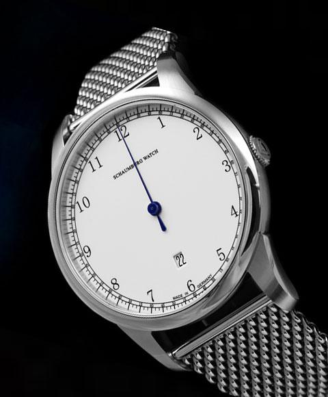 シャウボーグ グノモニク GNOMONIK-SS (ステンレススチールブレスレット) 腕時計 メンズ SCHAUMBURG 自動巻 メタルブレス