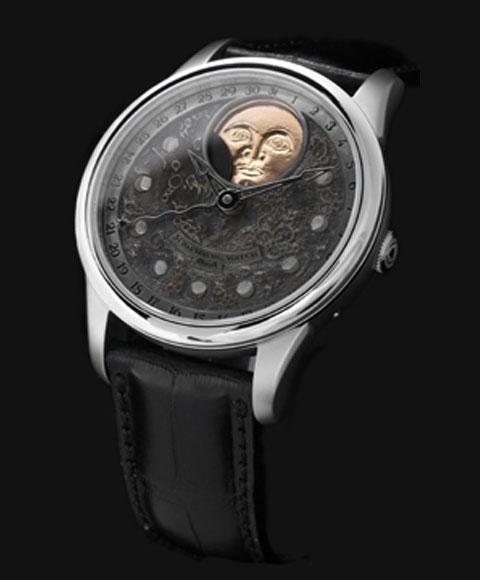 シャウボーグ ムーンランドスケープ MOON LANDSCAPE 腕時計 メンズ SCHAUMBURG PERPETUAL MOON 自動巻 レザーストラップ