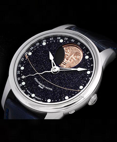 シャウボーグ ムーンギャラクシー ハンドメイド MOON GALAXY HAND MADE 腕時計 メンズ SCHAUMBURG PERPETUAL MOON 自動巻 レザーストラップ