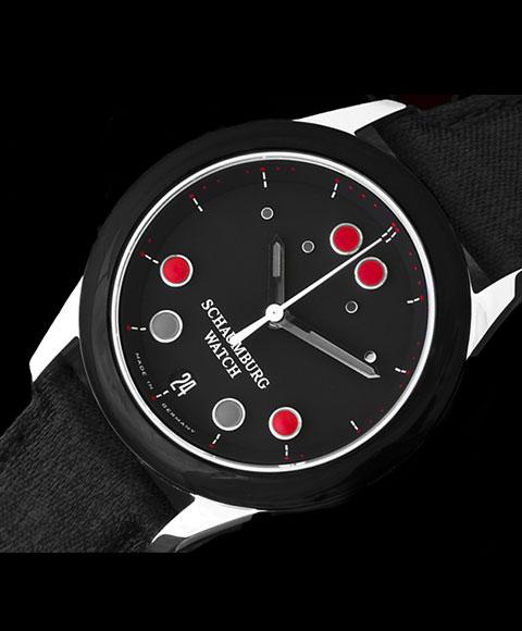 シャウボーグ ベビーフロッグワン BABYFROG ONE 腕時計 レディース SCHAUMBURG クロノグラフ 自動巻 レザーストラップ