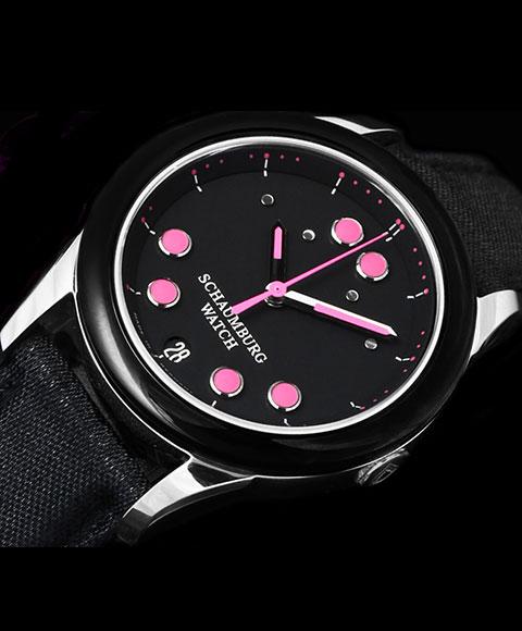 シャウボーグ ベビーフロッグツー BABYFROG TWO 腕時計 レディース SCHAUMBURG 自動巻 レザーストラップ