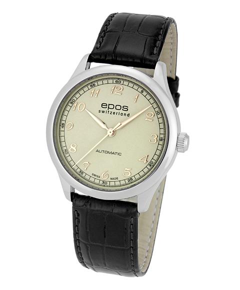 アウトレット 半額 エポス クラシックコレクション イボケーション 3285AWH 腕時計 メンズ 自動巻 epos レザーストラップ