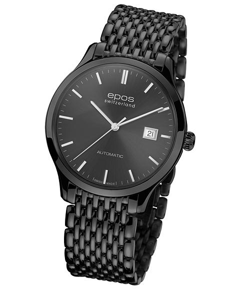 アウトレット 半額 エポス オリジナーレ デイト ブラック 3420BKGYSLM 腕時計 メンズ 自動巻 epos