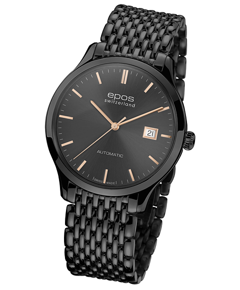エポス オリジナーレ デイト ブラック 3420BKGYGDM 腕時計 メンズ 自動巻 epos