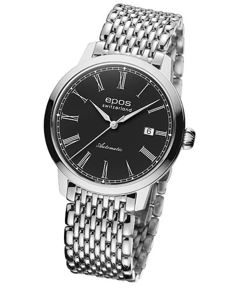 エポス オリジナーレ デイト 3432RBKM 腕時計 メンズ 自動巻 epos メタルブレス