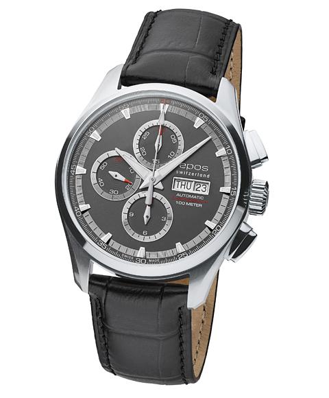 エポス スポーティブ クロノグラフ 3433GY 腕時計 メンズ 自動巻 epos 自動巻 レザーストラップ