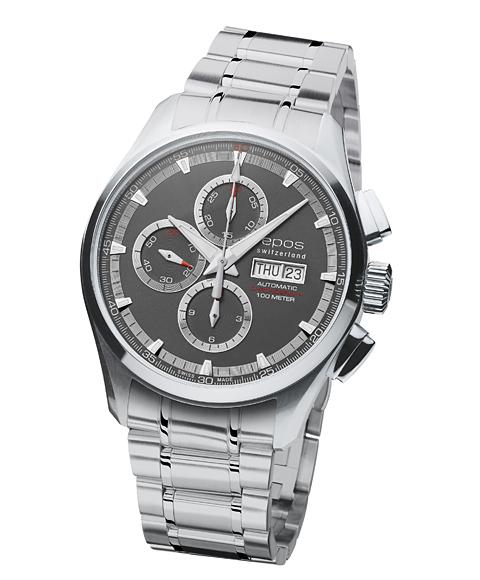 エポス スポーティブ クロノグラフ 3433GYM 腕時計 メンズ 自動巻 epos 自動巻 メタルブレス