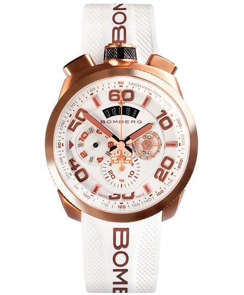 アウトレット ボンバーグ BOLT-68 ネオン BS45CHPG.032.3 クォーツ クロノグラフ 腕時計 メンズ BOMBERG NEON ゴールド ホワイト系