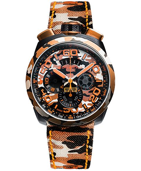 アウトレット ボンバーグ BOLT-68 カモフラージュ サハラ リミテッドエディション BS45CHPCA.047.3 クォーツ クロノグラフ 腕時計 メンズ BOMBERG CAMO SAHAR LIMITED EDITION 限定モデル ブラウン系