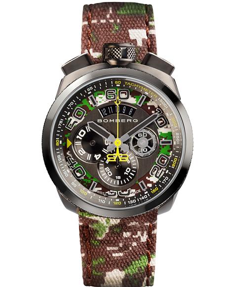 アウトレット ボンバーグ BOLT-68 カモフラージュ リミテッドエディション BS45CHPGM.038.3 クォーツ クロノグラフ 腕時計 メンズ BOMBERG CAMO LIMITED EDITION 限定モデル オリーブ系