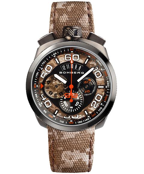 アウトレット ボンバーグ BOLT-68 カモフラージュ リミテッドエディション BS45CHPGM.018.3 クォーツ クロノグラフ 腕時計 メンズ BOMBERG CAMO LIMITED EDITION 限定モデル ブラウン系