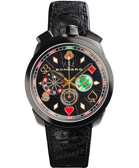 アウトレット ボンバーグ BOLT-68 ギャンブラー マカオ リミテッドエディション BS45CHPBA.033.3 クォーツ クロノグラフ 腕時計 メンズ BOMBERG GAMBLER MACAU LIMITED EDITION レザーストラップ