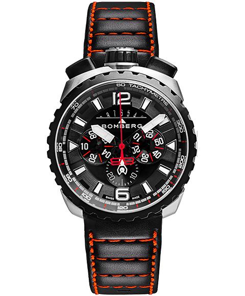 アウトレット ボンバーグ BOLT-68 BS45CHSP.050-4.3 クォーツ クロノグラフ 腕時計 メンズ BOMBERG レザーストラップ