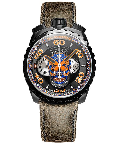 ボンバーグBOLT-68ブルースカルリミテッドエディションBS45CHPBA.051.3クォーツクロノグラフ腕時計メンズBOMBERGBLUESKULLLIMITEDEDITION