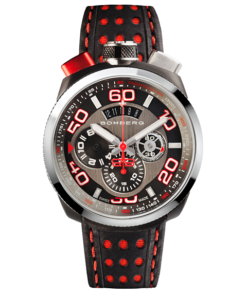 アウトレット ボンバーグ BOLT-68 BS45CHSP.011.3 クォーツ クロノグラフ 腕時計 メンズ BOMBERG レザーストラップ