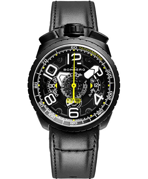 アウトレット ボンバーグ BOLT-68 BS47CHAPBA.041-6.3 自動巻 クロノグラフ 腕時計 メンズ BOMBERG レザーストラップ