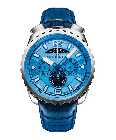 アウトレット ボンバーグ BOLT-68 BS45CHSS.050-7.3 腕時計 メンズ BOMBERG レザーストラップ ブルー系