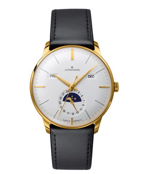 ユンハンス マイスター カレンダー 027 7202 01 (英語表記) 腕時計 メンズ JUNGHANS Meister Kalender 027/7202.01 自動巻 ゴールド レザーストラップ