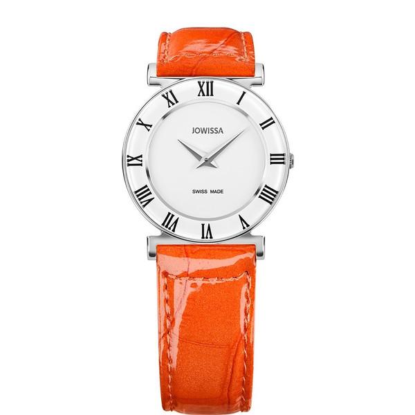 ジョウィサ J2シリーズ ローマ カラー 2.109.M 腕時計 レディース JOWISSA Roma Colori レザーストラップ オレンジ系