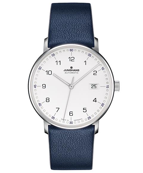 特価品 ユンハンス フォーム A 027 4735 00 腕時計 自動巻 メンズ JUNGHANS FORM A 027/4735.00 レザーストラップ ブルー系