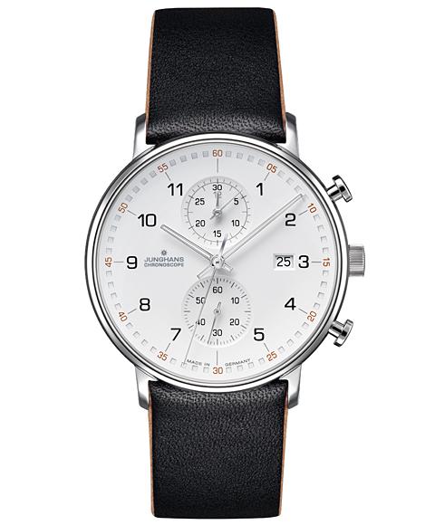 ユンハンス フォーム C 041 4771 00 腕時計 クロノスコープ メンズ JUNGHANS FORM C 041/4771.00 レザーストラップ