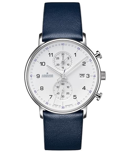 ユンハンス フォーム C 041 4775 00 腕時計 クロノスコープ メンズ JUNGHANS FORM C 041/4775.00 レザーストラップ