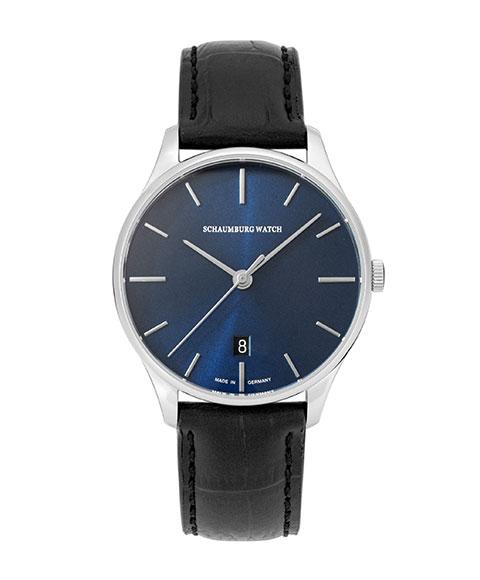 シャウボーグ クラソコ CLASSOCO-BL 腕時計 メンズ 自動巻 SCHAUMBURG クラシコ クラシック レザーストラップ ブルー系