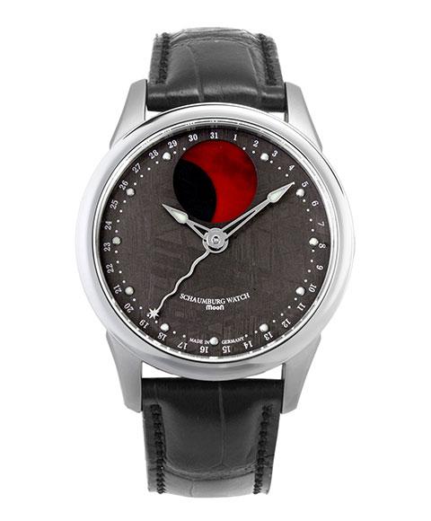 シャウボーグ ブラッドムーンメテオライト BMOON-METEORITE 腕時計 メンズ SCHAUMBURG BLOOD MOON GRAND PERPETUAL 自動巻 レザーストラップ