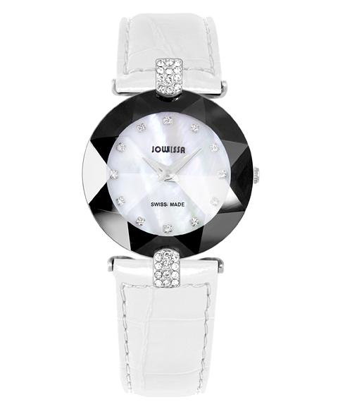 ジョウィサ 5.540.M 腕時計 レディース JOWISSA レザーストラップ ホワイト系