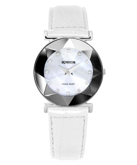 ジョウィサ 5.592.M 腕時計 レディース JOWISSA レザーストラップ ホワイト系