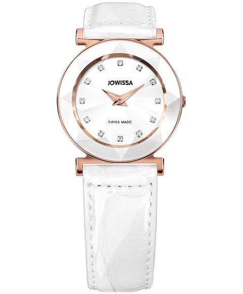 ジョウィサ 5.465.M 腕時計 レディース JOWISSA ゴールド レザーストラップ ホワイト系