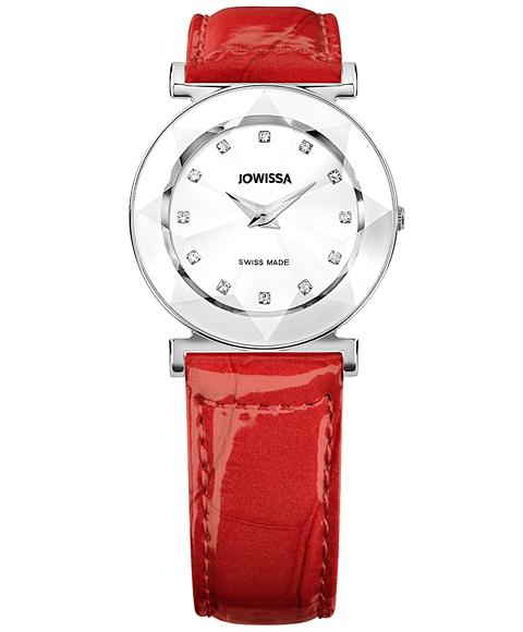 ジョウィサ 5.585.M 腕時計 レディース JOWISSA クロノグラフ レザーストラップ レッド系
