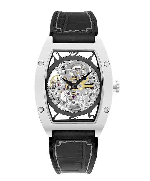 アルカフトゥーラ 978CBK メカニカルスケルトン トノー 自動巻き 腕時計 メンズ ARCAFUTURA