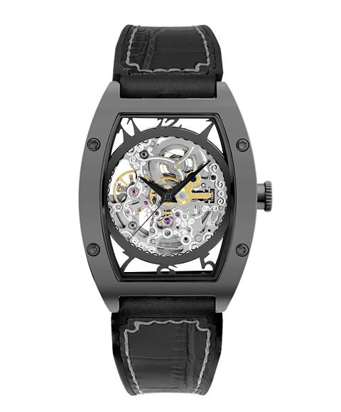 アルカフトゥーラ 978IBK メカニカルスケルトン トノー 自動巻き 腕時計 メンズ ARCAFUTURA スケルトン レザーストラップ