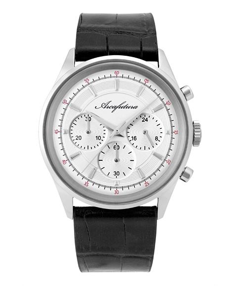 アルカフトゥーラ B0942-02BK 腕時計 メンズ ARCAFUTURA クロノグラフ レザーストラップ