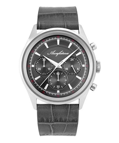 アルカフトゥーラ B0942-04GY 腕時計 メンズ ARCAFUTURA レザーストラップ