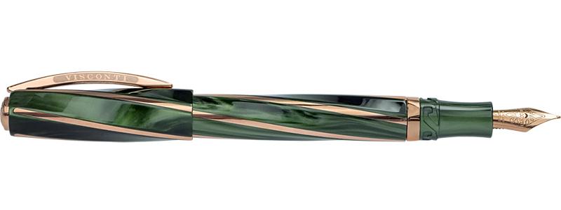 ヴィスコンティ ディヴィーナ エレガンス グリーン ミディアムサイズ V26706PDA56DR (FP/MP) 万年筆 VISCONTI Divina Elegance Green 時計取り扱い ビスコンティ