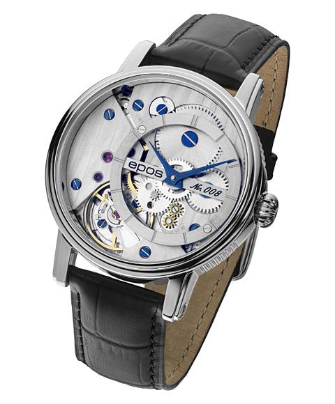 エポス ヴェルソ 3435CGSL LTD999 腕時計 メンズ 自動巻 epos Verso Oeuvre d'art 限定モデル レザーストラップ