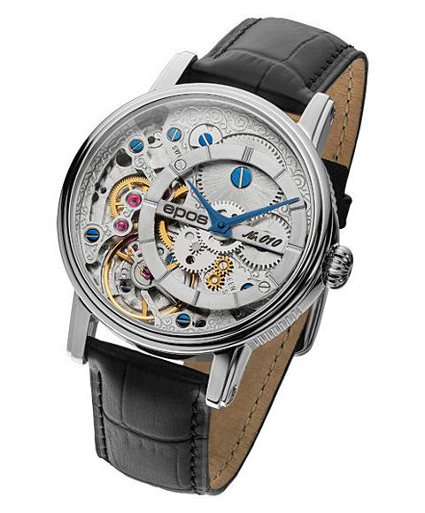 エポス ヴェルソ 3435OHSL LTD999 腕時計 メンズ 自動巻 epos Verso Oeuvre d'art 限定モデル レザーストラップ